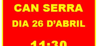 Suma-t'hi! DIJOUS 26 D'ABRIL CONCENTRACIÓ A CAN SERRA CAP A LA MOBILITZACIÓ INTENSA I SOSTINGUDA