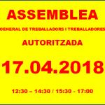 RESUM DE L'ASSEMBLEA GENERAL TREBALLADORS/RES DEL 17.04.2018