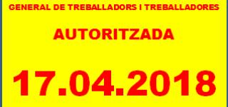 CONVOCATÒRIA ASSEMBLEA GENERAL DE TREBALLADORS I TREBALLADORES 17.04.2017
