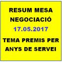 RESUM MESA NEGOCIACIÓ 17.05.2018  PREMIS PER ANYS DE SERVEI