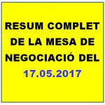 RESUM COMPLET DE LA MESA NEGOCIACIÓ 17.05.2018