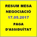 RESUM MESA NEGOCIACIÓ 17.05.2018  PAGA D'ASSIDUÏTAT