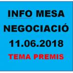 INFO MESA GENERAL DE NEGOCIACIÓ DEL 11 DE JUNY DE 2018