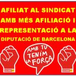 AFILIAT AL SINDICAT AMB MÉS AFILIACIÓ I REPRESENTACIÓ A LA DIPUTACIÓ DE BARCELONA