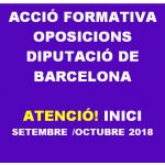 ACCIONS FORMATIVES PER L'OFERTA PÚBLICA D'OCUPACIÓ DE LA DIPUTACIÓ 2016 i 2017