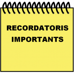 RECORDATORIS IMPORTANTS