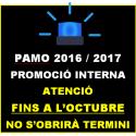 PAMO 2016/2017 Promoció INTERNA NO OBERT TERMINI DE PRESENTACIÓ FINS OCTUBRE 2018