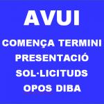 OPOS CONSOLIDACIÓ OBERT TERMINI DE PRESENTACIÓ DE SOL·LICITUDS
